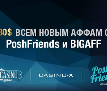 Poshfriends и Bigaff раздаём бонус 80$