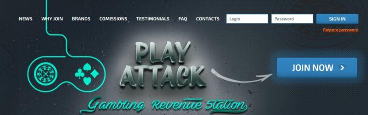 Обзор партнёрской программы казино PlayAttack