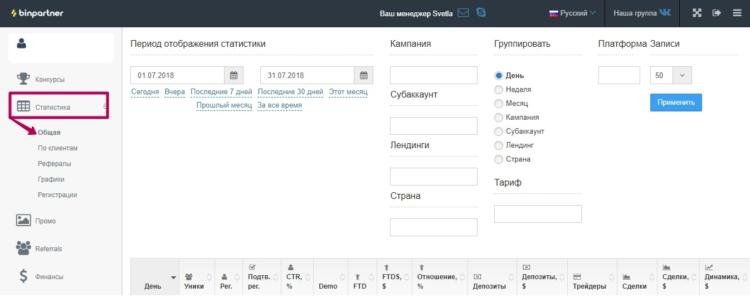 BinPartner - партнерская программа бинарных опционов