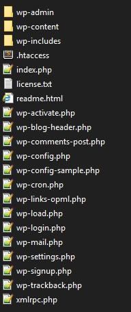 Заливка файлов WP на сервер