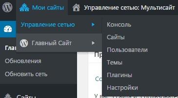 wordpress мультисайт